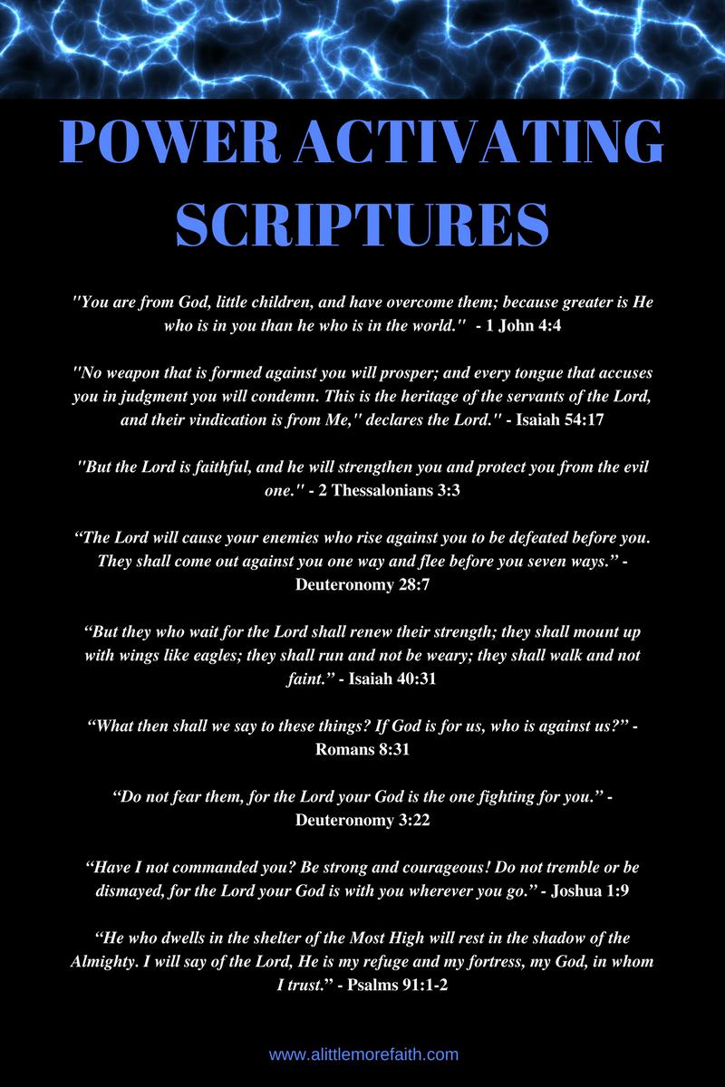 POWER ACTIVATING SCRIPTURES